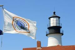 Faro capo di Portland, Maine Immagini Stock