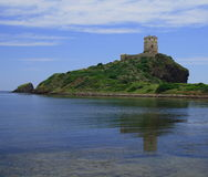 Faro Capo di Pula - Sardegna. Riflesso del faro di Capo di Pula - Sardegna royalty free stock image