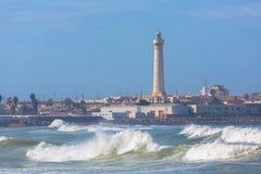 Faro a Casablanca, Marocco Fotografie Stock