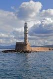 Faro a Chania, Grecia fotografia stock libera da diritti