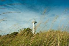 Faro con il bello cielo Fotografie Stock