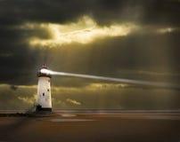 Faro con la viga Imagen de archivo libre de regalías