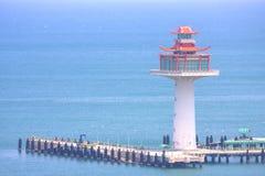 Faro con vista sul mare fotografia stock libera da diritti