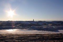 Faro congelato Fotografia Stock Libera da Diritti