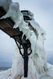 Faro congelato di inverno Immagine Stock Libera da Diritti