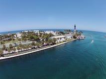 Faro costiero in spiaggia della leccia, Florida Fotografia Stock Libera da Diritti