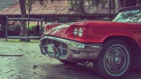 Faro d'annata dell'automobile che guida la foto del trasporto fotografia stock libera da diritti