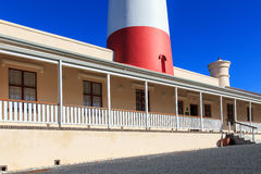 Faro de Agulhas del cabo Fotografía de archivo libre de regalías