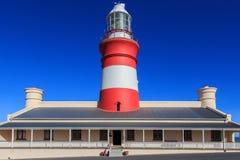 Faro de Agulhas del cabo Foto de archivo