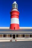 Faro de Agulhas del cabo Foto de archivo libre de regalías