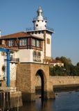Faro de Arriluce en Getxo Fotos de archivo