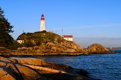 Faro de Atkinson del punto, Vancouver del oeste, Canadá fotografía de archivo