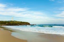 Faro de Australia de la playa de Wollongong Foto de archivo libre de regalías