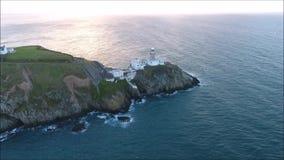 Faro de Baily Howth irlanda almacen de video
