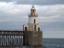 Faro de Blyth en cielos cubiertos Fotografía de archivo libre de regalías
