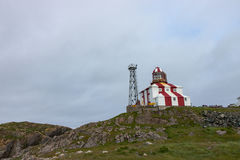 Faro de Bonavista del cabo en Terranova fotografía de archivo libre de regalías