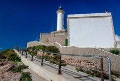 Faro de Botafoch lighthouse. Ibiza Stock Image