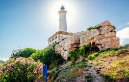 Faro de Botafoch lighthouse Royalty Free Stock Images