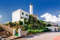 Faro de Botafoch lighthouse Stock Photography