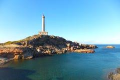 Faro De Cabo De Palos, latarnia morska Cabo De Palos/ Zdjęcie Royalty Free