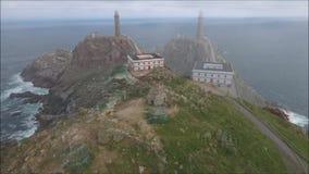 Faro de Cabo Vilan almacen de metraje de vídeo