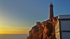 Lighthouse of Cabo Vilan, Finisterre stock photography