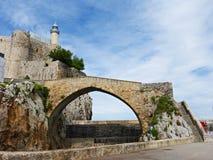 Faro de Castro Urdiales, Cantabria, España Foto de archivo libre de regalías