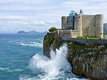 Faro de Castro Urdiales, Cantabria, España Fotografía de archivo libre de regalías