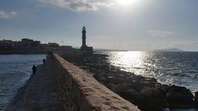 Faro de Chania foto de archivo libre de regalías