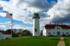 Faro de Chatham en Cape Cod Imagen de archivo libre de regalías