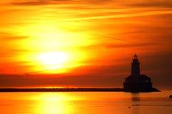 Faro de Chicago en el amanecer imagen de archivo