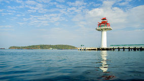 Faro de China en el mar profundo Foto de archivo