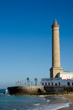Faro de Chipiona, el más alto de España Imagen de archivo
