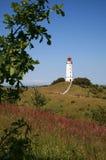 Faro de Dornbusch en la isla Hiddensee en Alemania Fotografía de archivo libre de regalías
