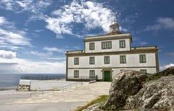 Faro de Finisterre del cabo foto de archivo