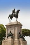Faro de Gianicolo- Giuseppe Garibaldi's horse monument in Rome, Italy. Stock Image