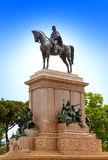 Faro de Gianicolo- Giuseppe Garibaldi's horse monument in Rome, Italy Royalty Free Stock Photo