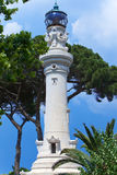 Faro de Gianicolo- Manfredi Lighthouse in Rome, Italy. Stock Photos