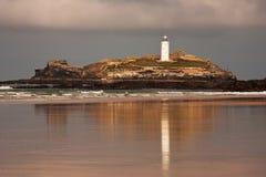 Faro de Godrevy Foto de archivo libre de regalías