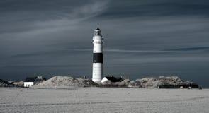 Faro de Kampen. Infrarrojo. Fotografía de archivo