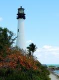 Faro de Key Biscayne Fotos de archivo