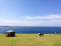 Faro de Kiama de la vista al mar @ Imagen de archivo