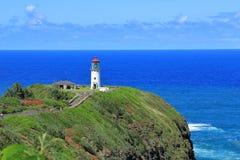 Faro de Kilauea, Hawaii imagen de archivo