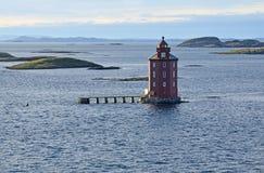 Faro de Kjeungskjær, Noruega Foto de archivo libre de regalías
