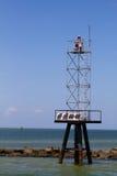 Faro de la ayuda de navegación Foto de archivo libre de regalías