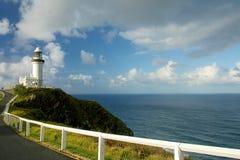 Faro de la bahía de Byron Imagenes de archivo