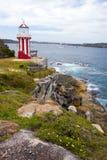 Faro de la bahía de Watson Fotos de archivo
