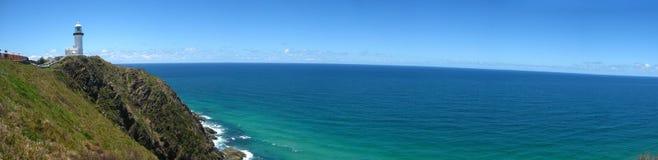 Faro de la bahía del byron de Australia Imagen de archivo libre de regalías