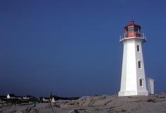 Faro de la ensenada de Peggy - Nueva Escocia Imágenes de archivo libres de regalías