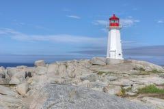 Faro de la ensenada de Peggys, Nova Scotia, Canadá fotografía de archivo